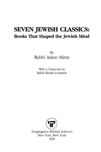 Seven Jewish Classics